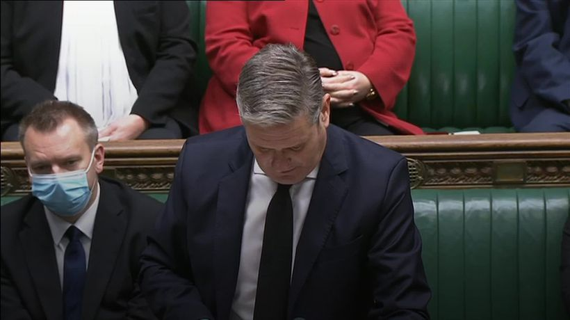 Sir Keir Starmer questions PM about tackling harmful content online