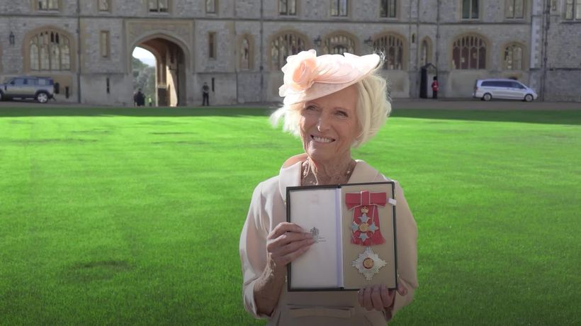 Mary Berry 'thrilled' to be honoured with damehood