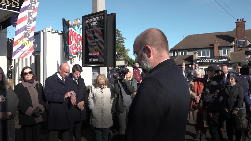 Two-minute silence held in Leigh-on-Sea a week after the death of Sir David Amess