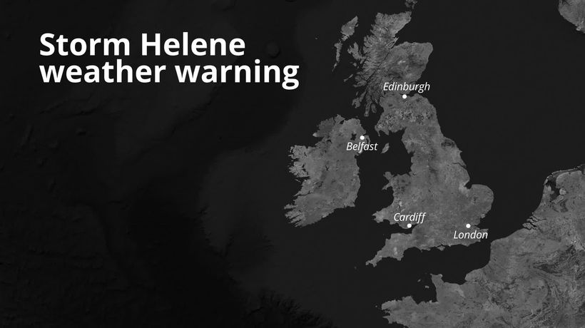 Forecasters downgrade 'risk to life' threat of Storm Helene