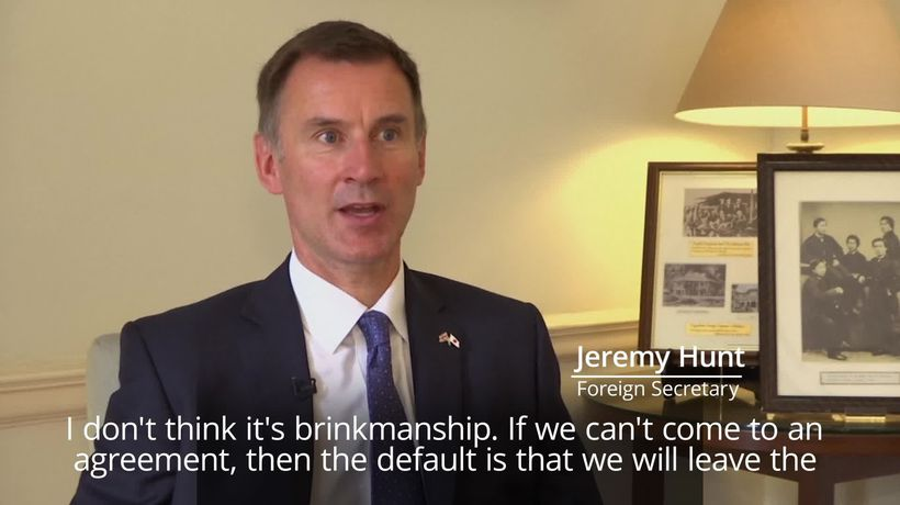 Jeremy Hunt: We're cautiously optimistic of striking Brexit deal