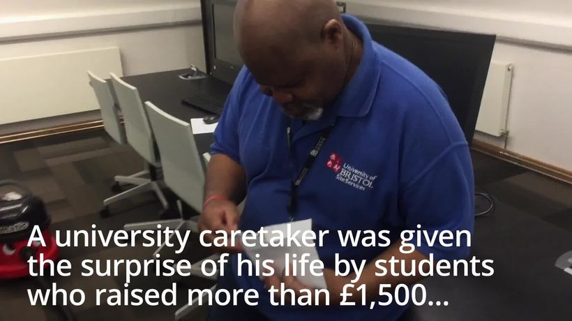 University caretaker treated to luxury Jamaican holiday after video goes viral