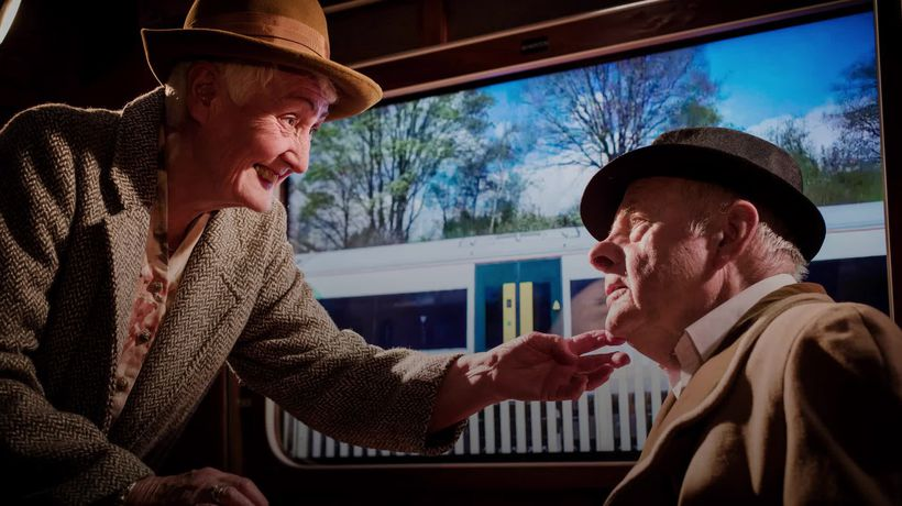 Couple re-enact moment they met as part of reminiscence therapy for Parkinson's