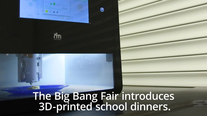 The Big Bang Fair offer 3D-printed school dinners