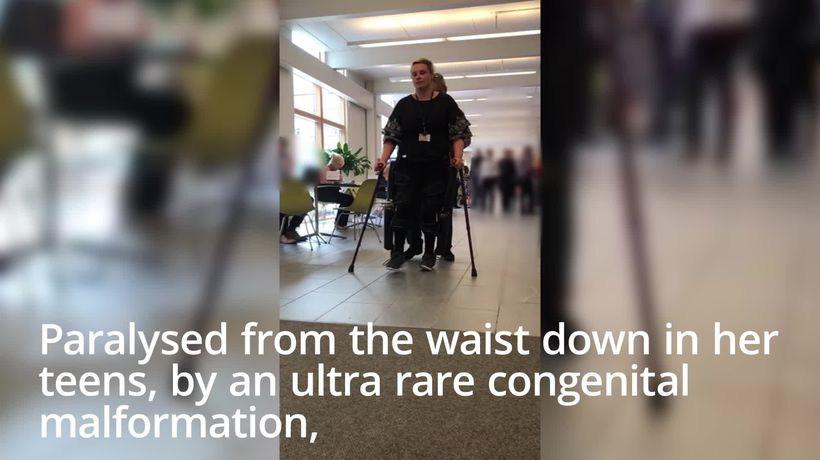 Paralysed woman takes first steps in 14 years thanks to GBP80,000 robot suit