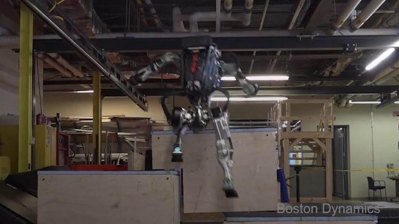 Boston Dynamics' robot shows upgraded agility in Parkour video