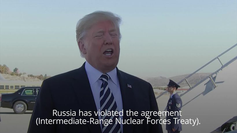 Donald Trump: US will pull out of intermediate range nuclear pact with Russia