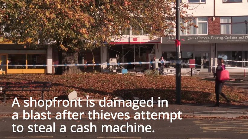 Explosion rocks post office as thieves try to grab ATM