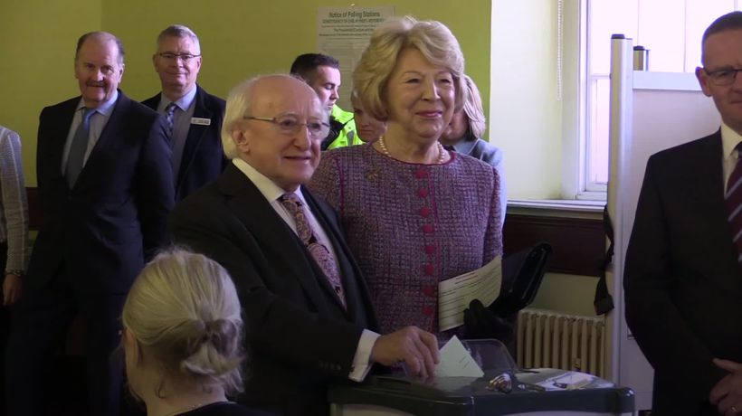Candidates cast votes as Irish presidential election polling begins