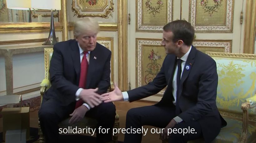 Trump and Macron seek to defuse tensions before WWI anniversary