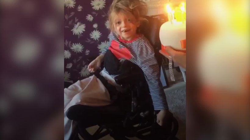 Girl celebrates half birthdays as she battles incurable dementia
