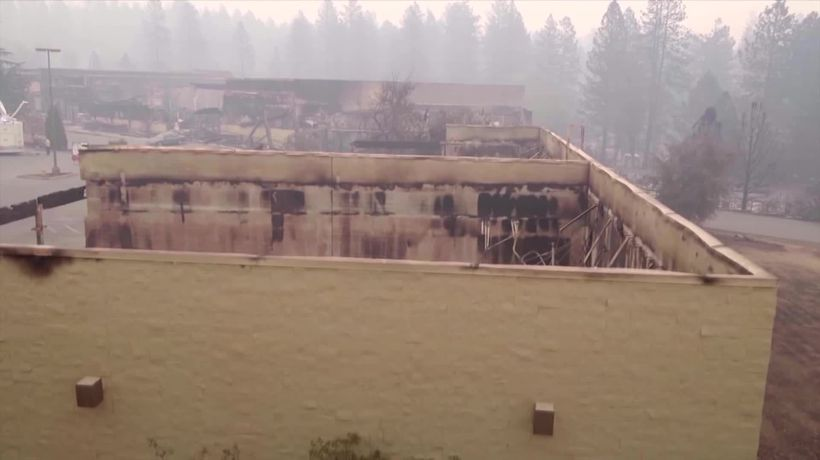 Drone footage shows destruction of California town which needs 'total rebuild'