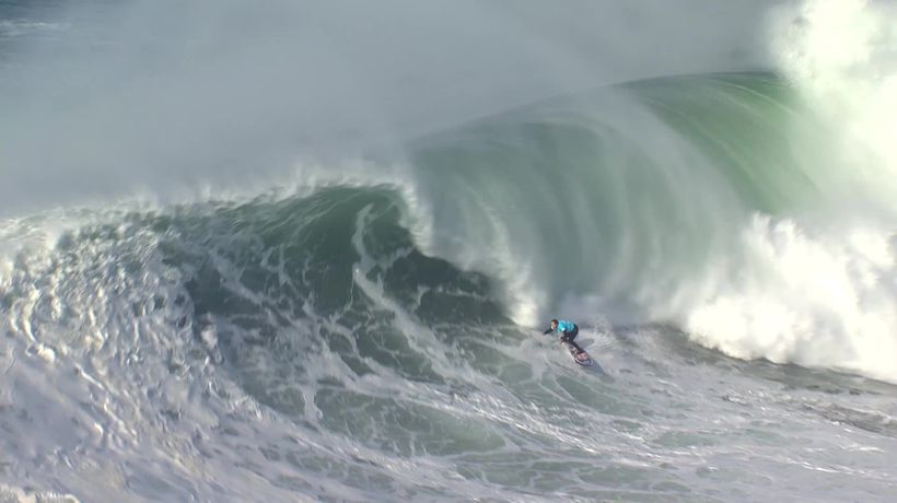 Incredible wipe-outs at Big Wave surfing competition