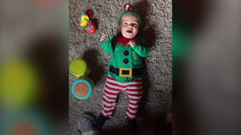 Giggling baby's laugh caused by rare brain tumour