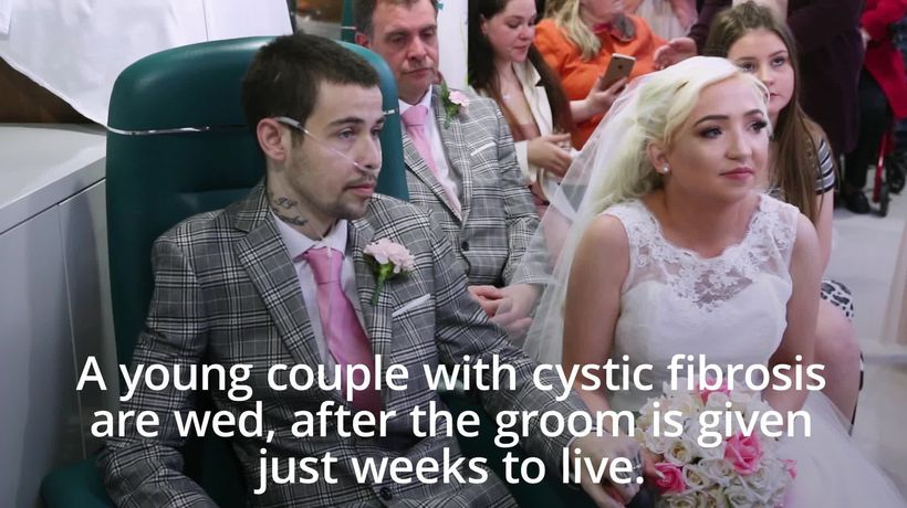 Groom gets dying wish to marry bride as they both battle cystic fibrosis