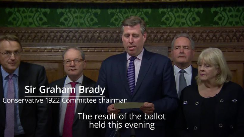 Theresa May confidence vote: The moment the PM's win was announced