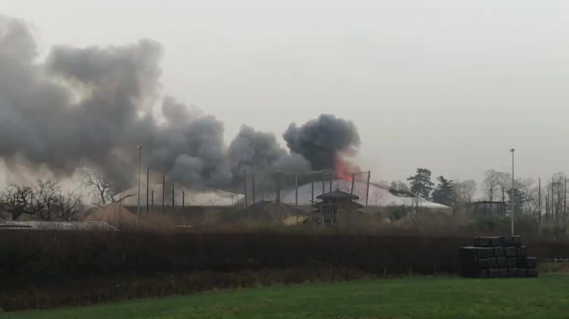 Firefighters tackle blaze at Chester Zoo