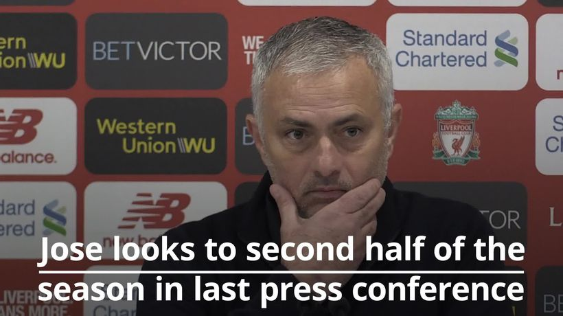 Jose looks to second half of the season in last Man United press conference
