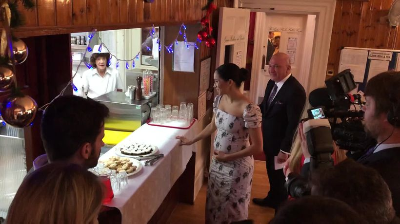 Duchess of Sussex visits Royal Variety Charity's care home