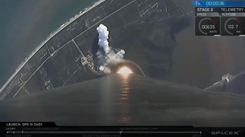 SpaceX launches first national security mission with Falcon 9 rocket