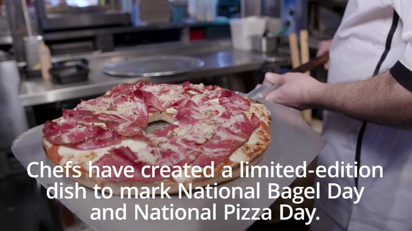 The 'Bagelizza' celebrates National Bagel Day and National Pizza Day