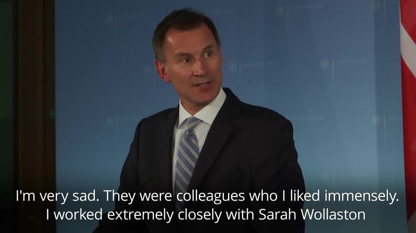 Jeremy Hunt, 'very sad' about Conservative MPs departure
