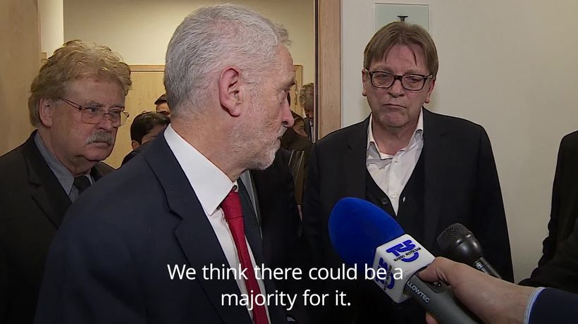 Jeremy Corbyn: Theresa May must end her red lines to avoid no-deal