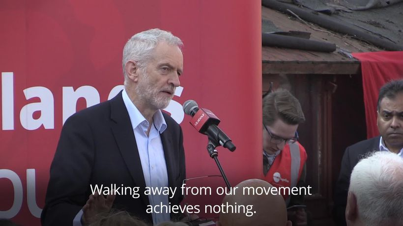 Jeremy Corbyn: 'Walking away from our movement achieves nothing'