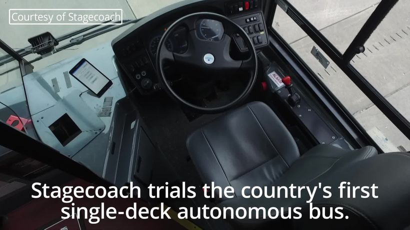 UK's first driverless bus tested in Manchester