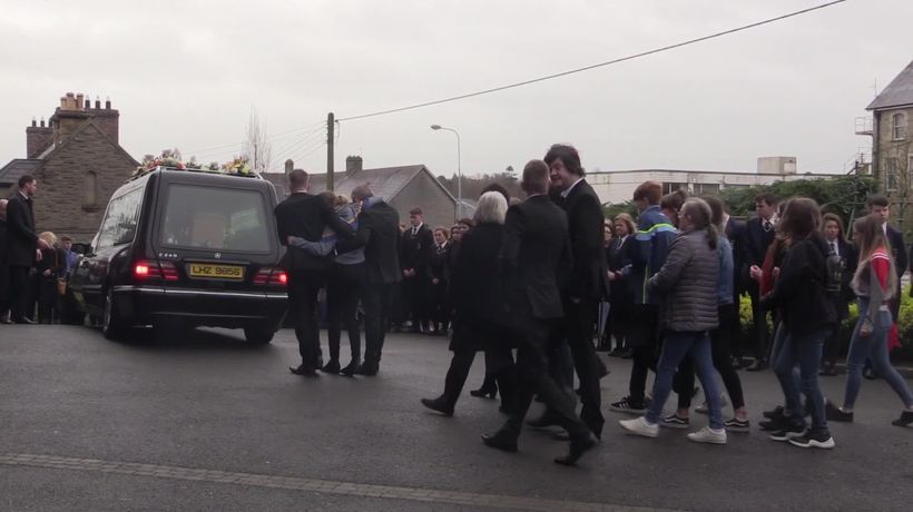 Guard of honour formed at funeral of St Patrick's Day party crush victim