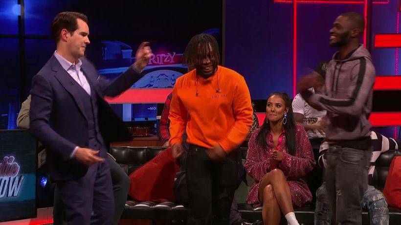 Jimmy Carr shows off his dance moves on The Big Narstie Show