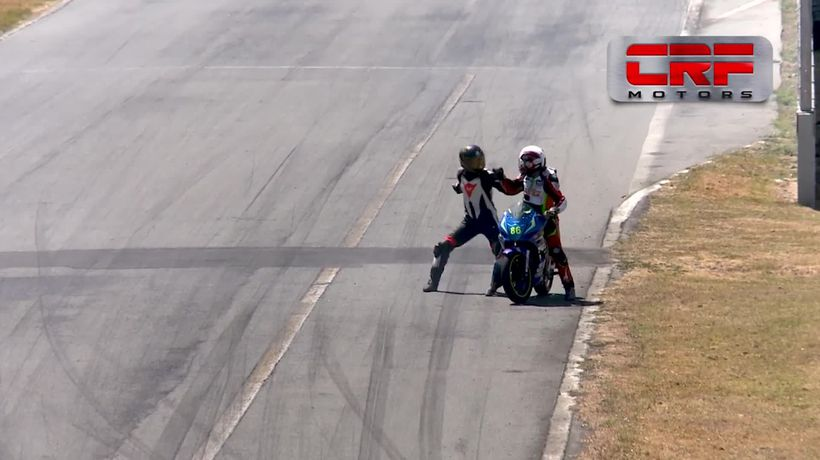 Bikers have fight mid-race and pick up two-year suspension
