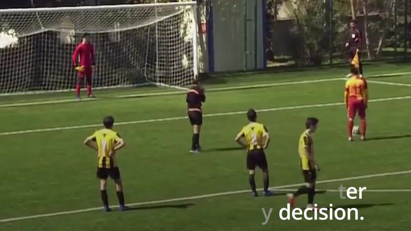 Youth footballer deliberately misses penalty