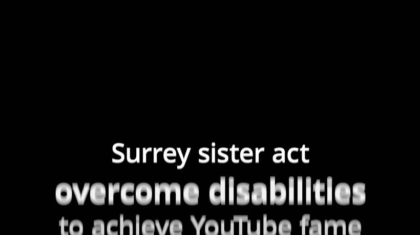 Disabled Surrey sisters become YouTube stars