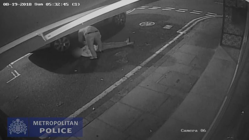 CCTV of vicious unprovoked attack in Marylebone