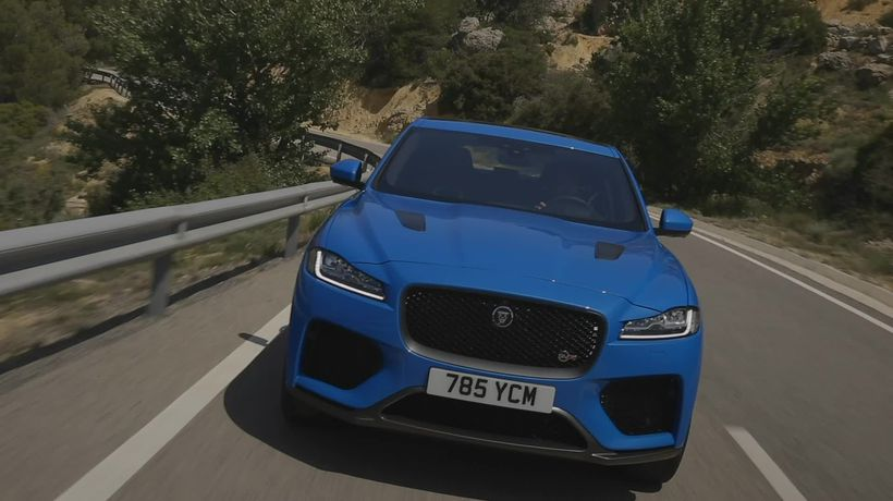 This is the Jaguar F-Pace SVR
