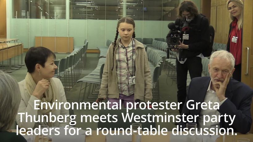 Greta Thunberg meets Westminster party leaders