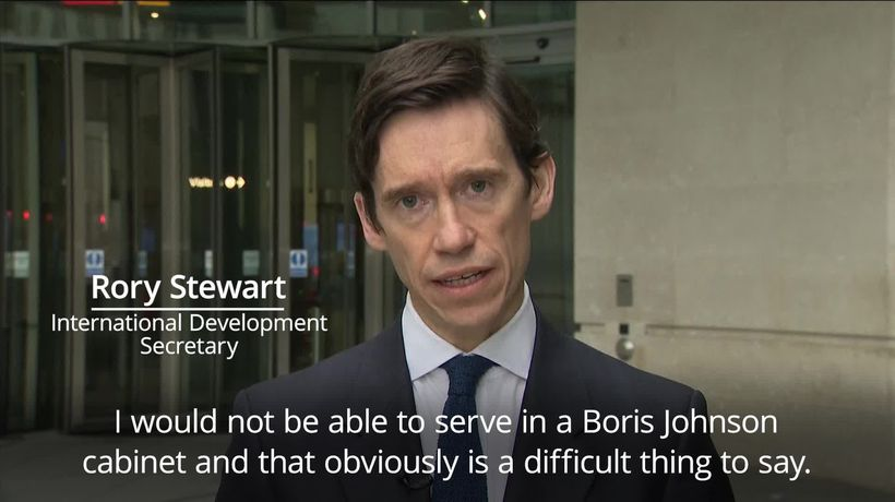 Tory leadership contender Rory Stewart: I would not serve under Boris