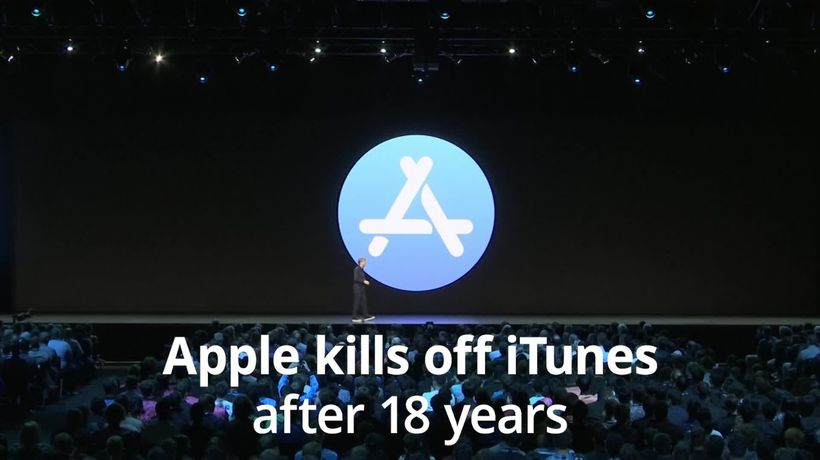 Apple conference: iTunes killed off and new 'dark mode' among updates