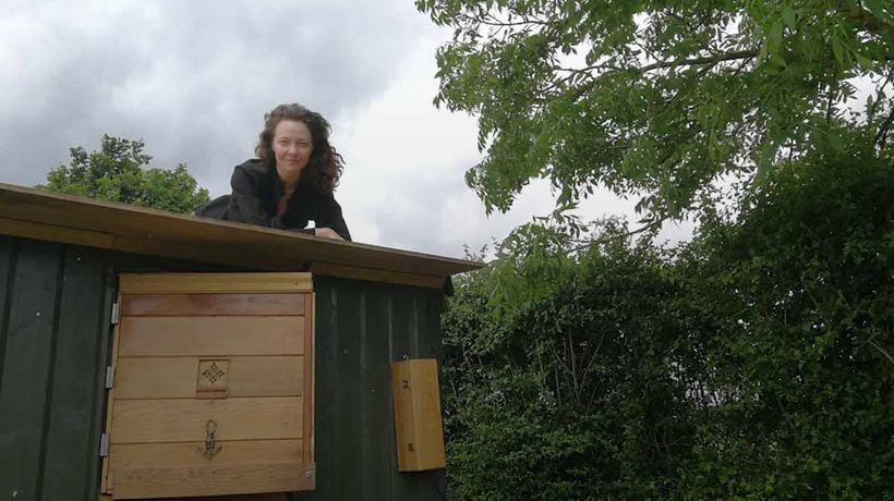 Meet the woman who has built her forever home on wheels