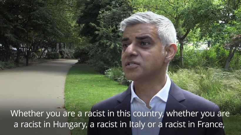 Sadiq Khan: Donald Trump now a poster boy for the far-right