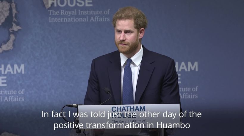 Prince Harry backs GBP47 million landmine clearing initiative in Angola