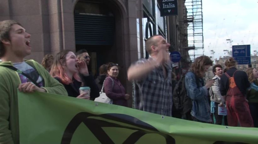 Environmental protesters bring disruption to parts of Edinburgh