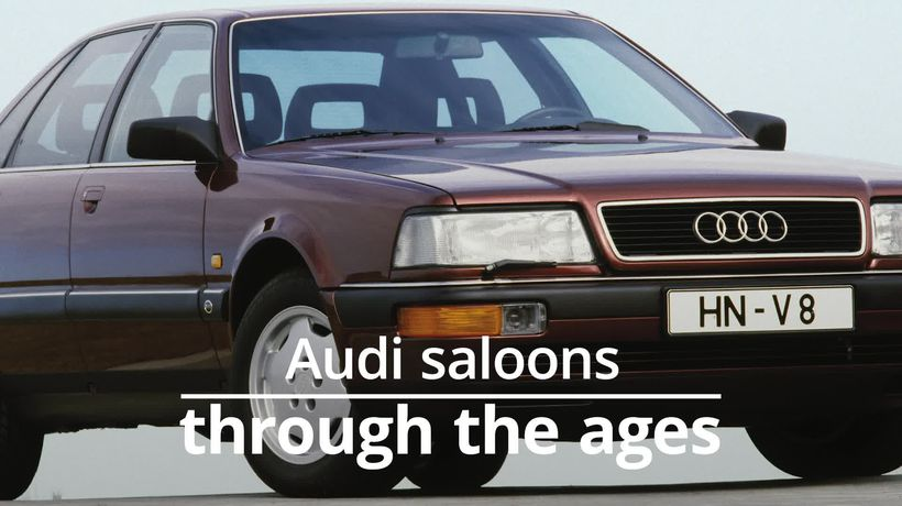 Audi saloons through the ages