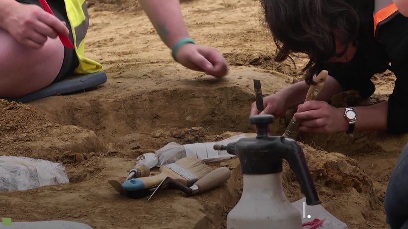 Human remains and cannon ball unearthed at Battle of Waterloo hospital site