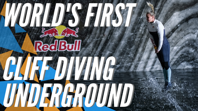 Cliff diving duo accomplish world's first underground dive inside a salt mine