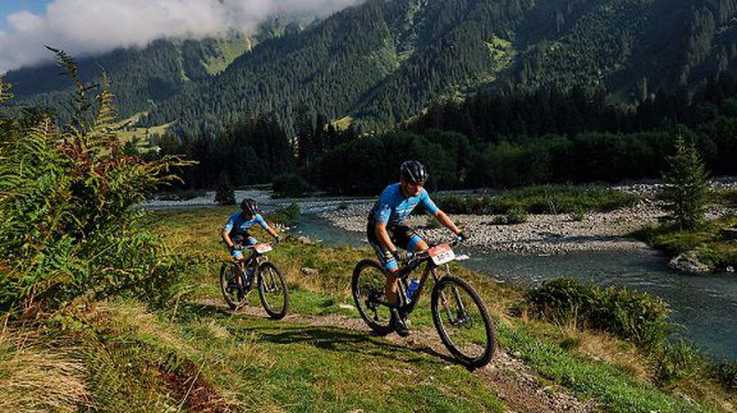 Singletrack paradise during Stage 4 of the 2021 Swiss Epic