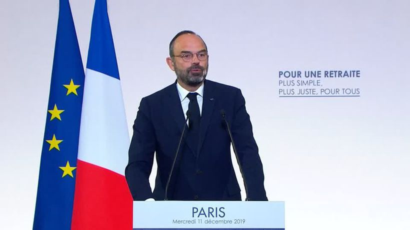 France's prime minister defies unions with pension overhaul