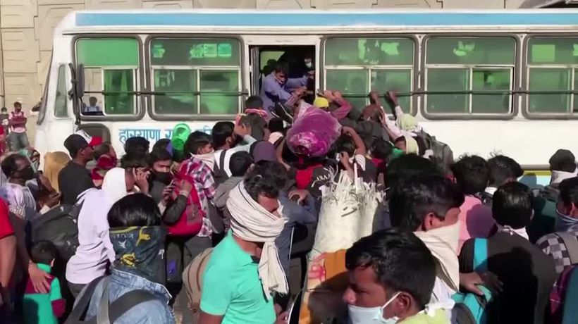 India's stranded army of workers flees home