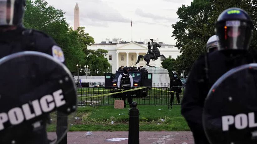 Trump urges governors to crack down on violent protests